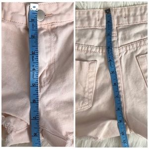 Forever 21 Shorts - Light Pink Distressed Low-Rise Denim Shorts - 27